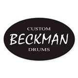BECKMAN Custom Drums Oval  Aufkleber
