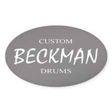 BECKMAN Custom Drums Oval Decal