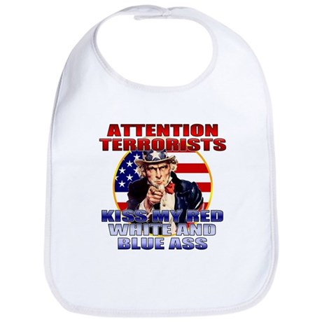 """Kiss My Ass"" Patriotic Uncle Sam Bib"