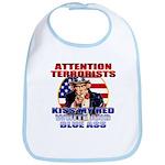 """Kiss My Ass"" Patriotic Uncle Sam Bib"