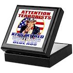 """Kiss My Ass"" Patriotic Uncle Sam Keepsake Box"