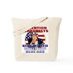 """Kiss My Ass"" Patriotic Uncle Sam Tote Bag"