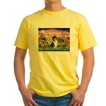 Autumn Angel/Collie Yellow T-Shirt