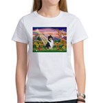 Autumn Angel/Collie Women's T-Shirt