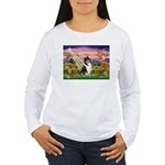 Autumn Angel/Collie Women's Long Sleeve T-Shirt