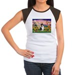Autumn Angel/Collie Women's Cap Sleeve T-Shirt