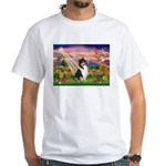 Autumn Angel/Collie White T-Shirt