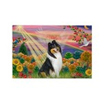 Autumn Angel/Collie Rectangle Magnet