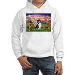 Autumn Angel/Collie Hooded Sweatshirt