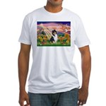 Autumn Angel/Collie Fitted T-Shirt