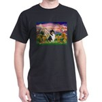 Autumn Angel/Collie Dark T-Shirt