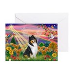 Autumn Angel/Collie Greeting Card