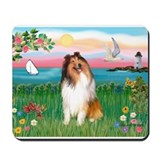 Lighthouse / Collie (s) Mousepad