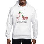 Frenchie Good Luck (PINK) Hooded Sweatshirt
