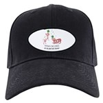Frenchie Good Luck (PINK) Black Cap