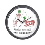 Frenchie Good Luck (PINK) Wall Clock