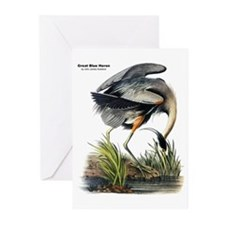 Audubon Great Blue Heron Greeting Cards (Pk of 10)