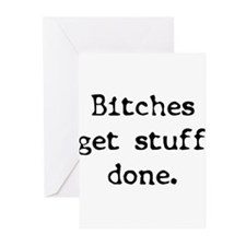 Bitches/Stuff Greeting Cards (Pk of 20)