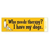 Therapy Dogs Bumper Bumper Sticker