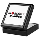Belongs To A Judge Keepsake Box