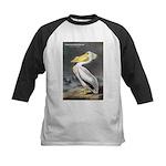 Audubon American White Pelican Kids Baseball Jerse