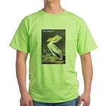 Audubon American White Pelican (Front) Green T-Shi