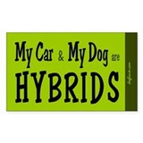 Car and Dog Hybrids Rectangle Decal