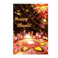 Diwali Postcards (Package of 8)