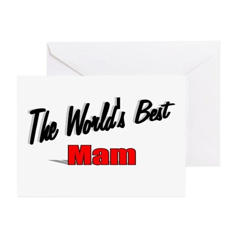 """The World's Best Mam"" Greeting Cards (Pk of 10)"