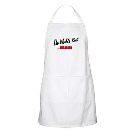 """The World's Best Mam"" BBQ Apron"
