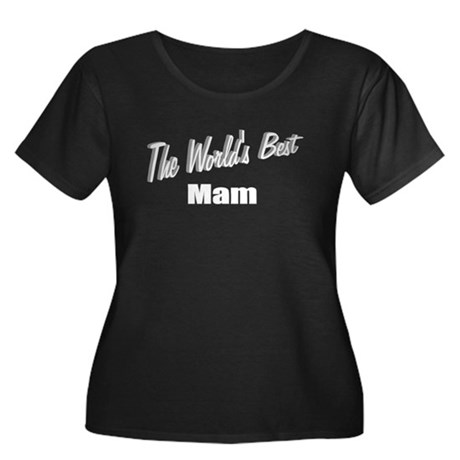 """The World's Best Mam"" Women's Plus Size Scoop Nec"