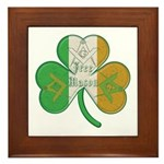 The Masons Irish Clover Framed Tile