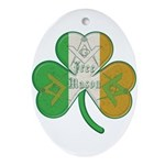 The Masons Irish Clover Oval Ornament