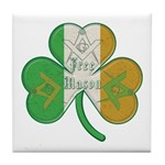 The Masons Irish Clover Tile Coaster
