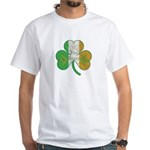 The Masons Irish Clover White T-Shirt