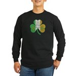 The Masons Irish Clover Long Sleeve Dark T-Shirt