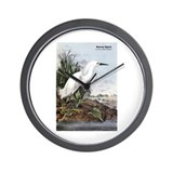 Audubon Snowy Egret Bird Wall Clock