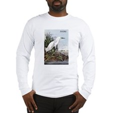 Audubon Snowy Egret Bird Long Sleeve T-Shirt