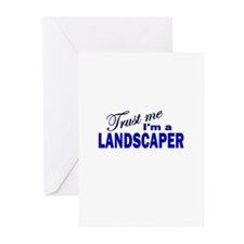 Trust Me I'm A Landscaper Greeting Cards (Pk of 10
