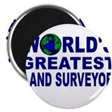 "World's Greatest Land Surveyo 2.25"" Magnet (10 pac"