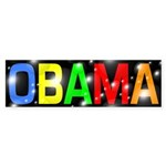 Obama in Bubbles and Color car decal