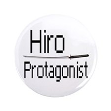 """Hiro Protagonist 3.5"""" Button (100 pack)"""