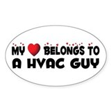 Belongs To A HVAC Guy Oval Decal