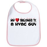 Belongs To A HVAC Guy Bib