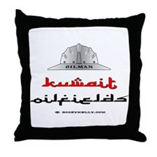Kuwait Oilfields Throw Pillow