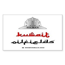 Kuwait Oilfields Rectangle Decal