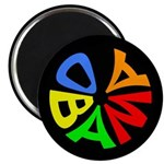 Obama in a Circle of Color Magnet