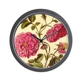 Dutch Rose by Merian Wall Clock
