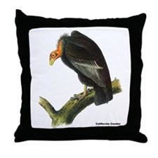 Audubon California Condor Bird Throw Pillow