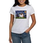 Starry Night / Collie pair Women's T-Shirt